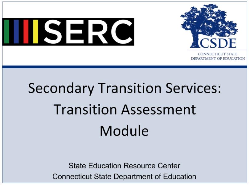 screenshot of transition goals module